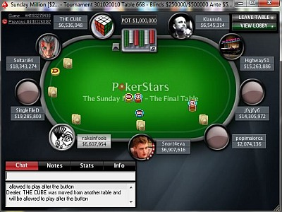 Sunday Million, 14th of March
