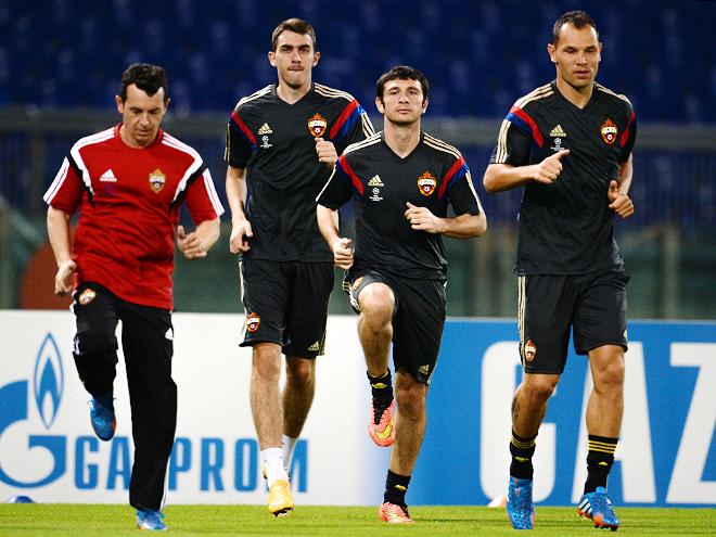 Тренировка ЦСКА в Риме