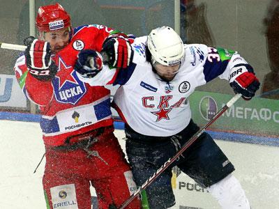 СКА одолел в овертайме ЦСКА, победную шайбу забил Афиногенов