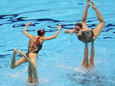 Лондон-2012. Синхронное плавание. Эльвира Хасянова