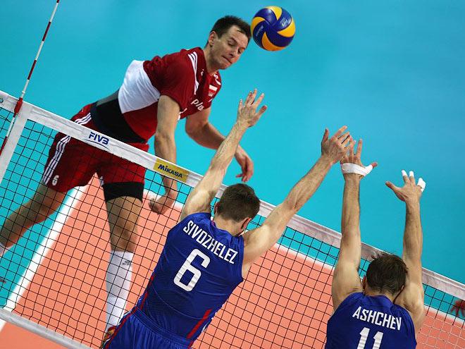 Волейбол. Мировая лига. Россия - Польша - 2:3