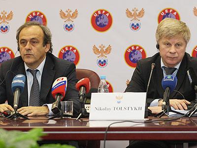 Мишель Платини и Николай Толстых