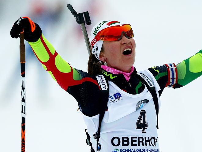 Дарья Домрачева одержала третью победу в сезоне