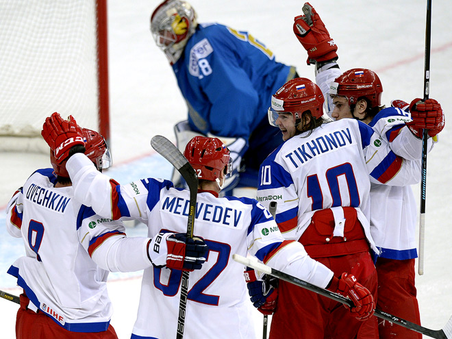 Сборная России разгромила Казахстан