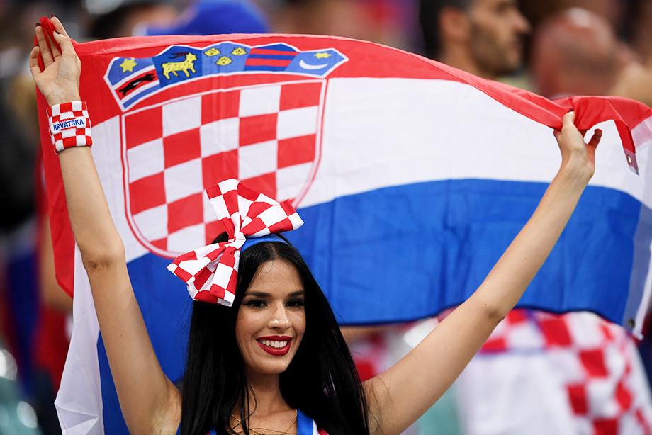 ЧМ-2018. Болельщица сборной Хорватии