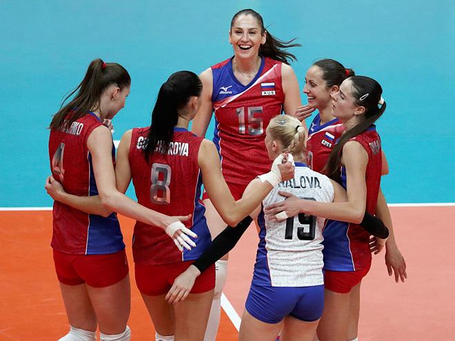 Русские  волейболисты выиграли уПольши ивышли вплей-оффОИ