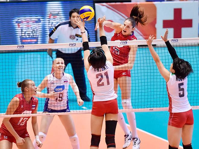 Россиянки на Кубке мира обыграли японок