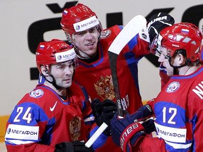 Евгений Малкин оформил дубль в игре со сборной Латвии