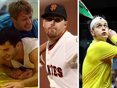 Борьба, бейсбол, сквош