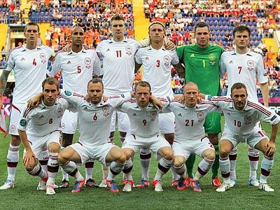 Сборная Дании перед матчем с Нидерландами