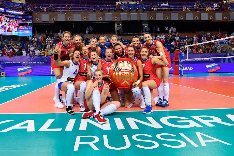 Женская сборная России по волейболу завоевала путёвку на Олимпиаду-2020