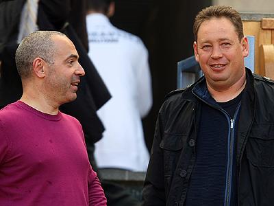 Михаил Грушевский и Леонид Слуцкий