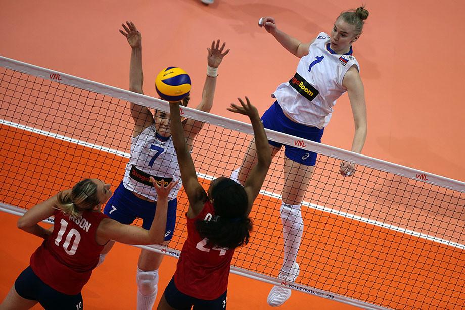 Женская сборная России проиграла США — 0:3