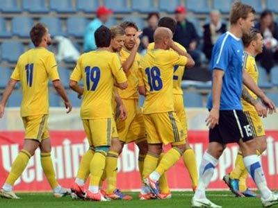 Украина в контрольном матче разгромила Эстонию