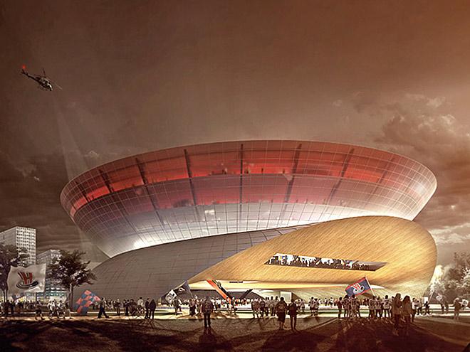 Макет ледовой арены в Новосибирске
