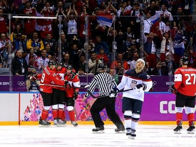 Сочи-2014. Хоккей. 1/2. США - Канада - 0:1
