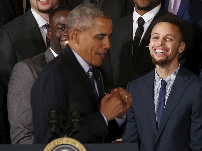Барак Обама и Стэф Карри