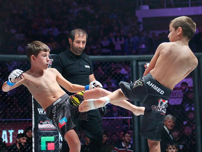 В Грозном состоялись показательные бои сыновей Рамзана Кадырова