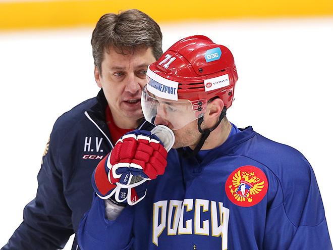 Сборная России провела открытую тренировку перед КПК