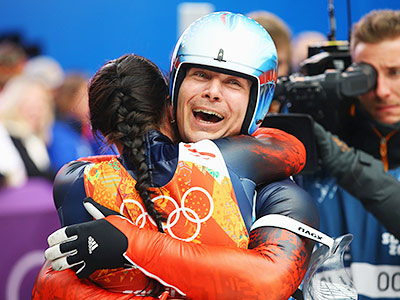 Российские саночники выиграли серебро