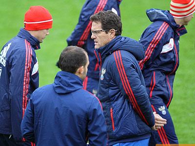Репортаж с тренировки сборной России по футболу