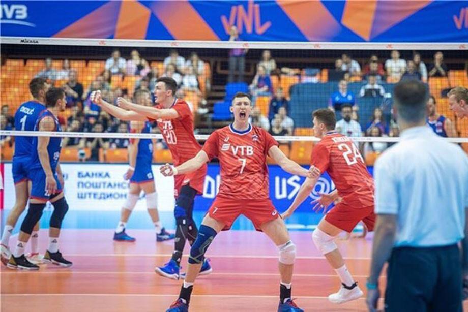России победила Сербию со счётом 3:2 в Лиге наций 2019, обзор матча