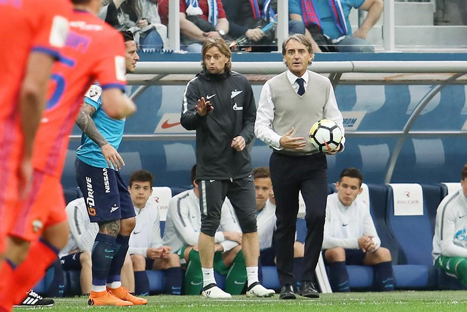 Тренер «Зенита» Манчини: нам следует были побеждать, однако ЦСКА умеет тянуть время