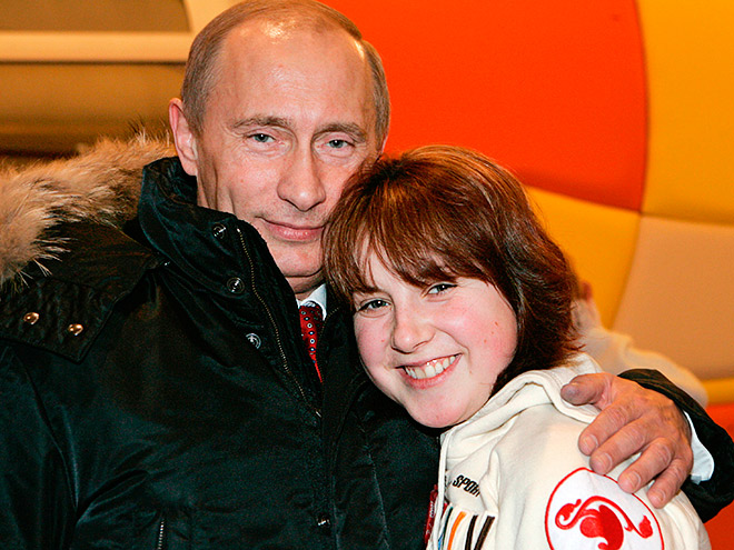 Владимир Путин и Ирина Слуцкая