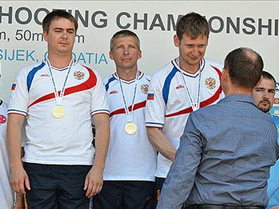 Сборная России по стрельбе выиграла 2 золота ЧЕ
