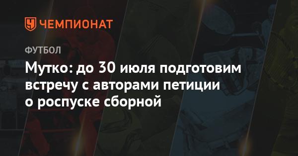 Мутко: до 30 июля подготовим встречу с авторами петиции о роспуске сборной