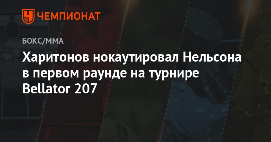 Харитонов нокаутировал Нельсона в первом раунде на турнире Bellаtor 207