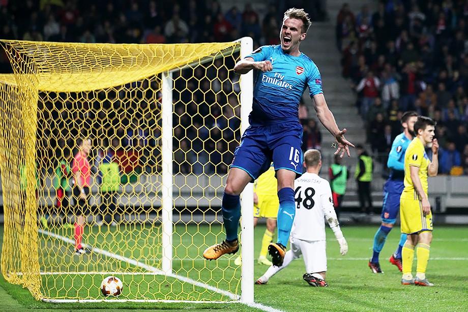 БАТЭ 2:4 Арсенал Обзор матча Лиги Европы