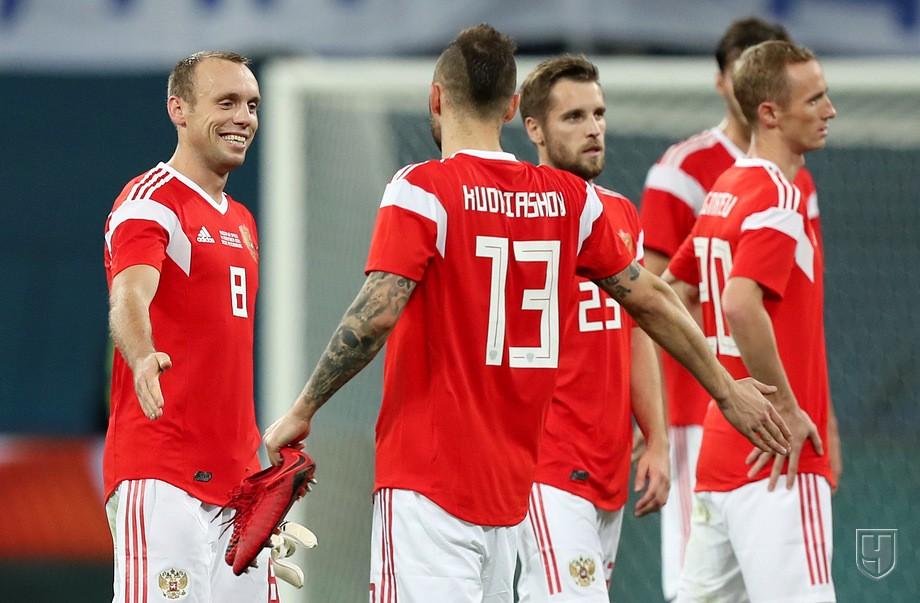 Глушаков, Джикия и Комбаров сыграли против Испании