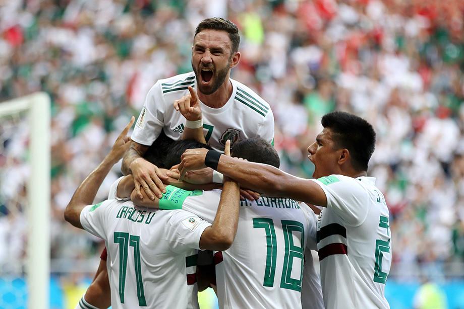 ЧМ-2018: Сборная Мексики радуется победе над Южной Кореей