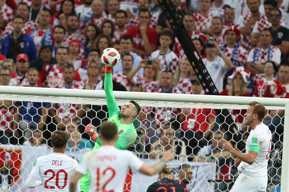 Даниель Субашич на матче Хорватия - Англия