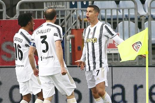 «Кальяри» — «Ювентус» — 1:3, Серия А, Криштиану Роналду ударил ногой в лицо вратарю Алессио Краньо, скандал