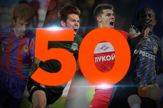 50 лучших матчей в истории футбольного чемпионата России. Места с 50-го по 41-е