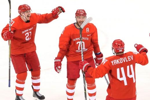 Мозякин подтолкнул, Ковальчук поехал! «Красная машина» задавила Словению