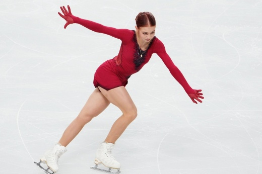 Finally, Trusova shows adult and meaningful skating.  But Sasha has less time
