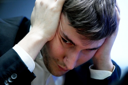 Sergey Karjakin was left without the World Chess Cup.  But he was backed by the girls