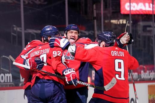 «Вашингтон» — «Нью-Джерси» — 4:0, видео, голы, обзор матча регулярного чемпионата НХЛ — 2021, Овечкин сделал дубль