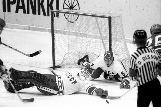 Первая победа сборной СССР на ЧМ по хоккею и первый разгром Канады, видео матча