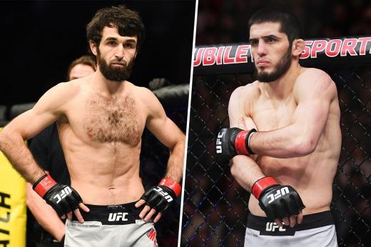 Ислам Махачев досрочно удушающим приёмом победил Тиаго Мойзеса на UFC Вегас 31, видео боя