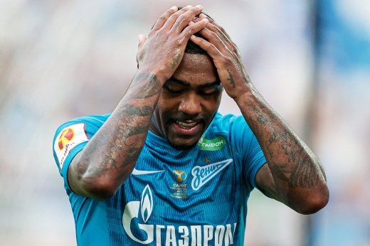 Zenit has been in the top 30 in terms of transfer costs in 10 years.  Russia - fifth in terms of losses