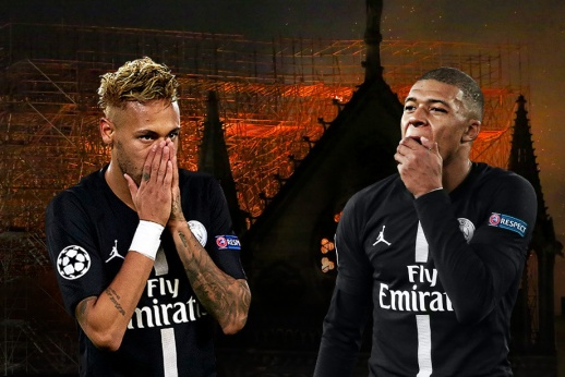 «Молюсь за Францию». Реакция футбольных звёзд на ужас с Нотр-Дам де Пари