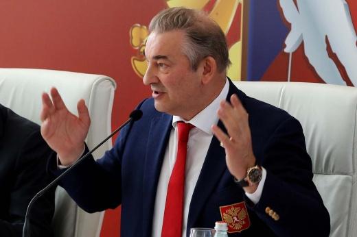Презентация логотипа чемпионата мира 2023 года, который пройдёт на новой арене в Санкт-Петербурге