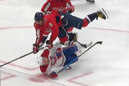«Это хоккей, а не балет». В Америке крутят нокаутирующий хит Овечкина на Друене