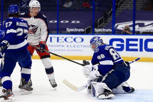 Василевский — кандидат на приз MVP? Российский голкипер — самый побеждающий в сезоне НХЛ