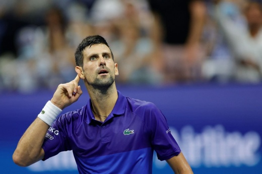 «Ваши ноги я заберу». Джокович расправился с Берреттини и вышел в 1/2 финала US Open