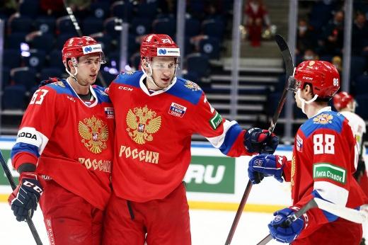 Россия не пощадила Беларусь. Наши забили шесть голов за период!